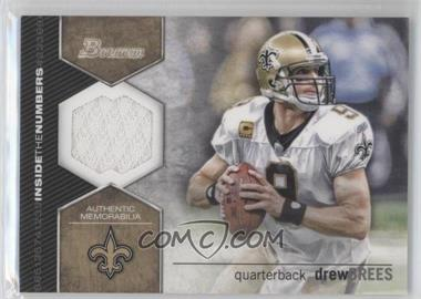 2012 Bowman - Inside the Numbers Relics #ITNR-DB - Drew Brees