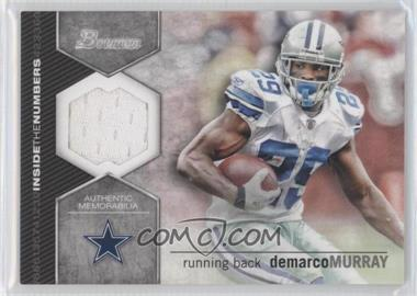 2012 Bowman - Inside the Numbers Relics #ITNR-DM - DeMarco Murray