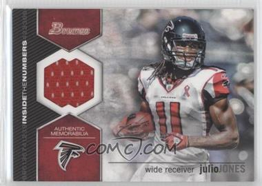 2012 Bowman - Inside the Numbers Relics #ITNR-JJ - Julio Jones