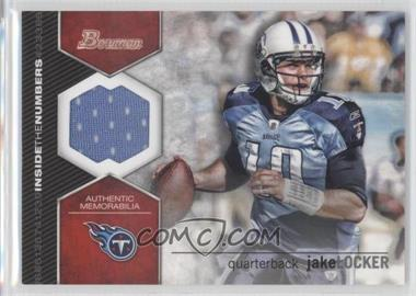 2012 Bowman - Inside the Numbers Relics #ITNR-JL - Jake Locker