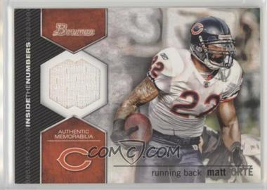 2012 Bowman - Inside the Numbers Relics #ITNR-MF - Matt Forte