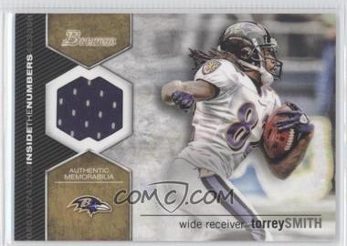 2012 Bowman - Inside the Numbers Relics #ITNR-TS - Torrey Smith
