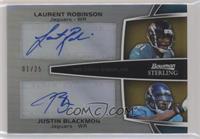Laurent Robinson, Justin Blackmon #/25