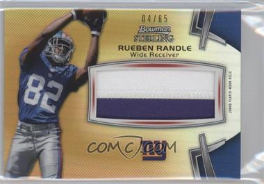2012 Bowman Sterling - Jumbo Rookie Relic - Gold Refractor #BSJRR-RR - Rueben Randle /65