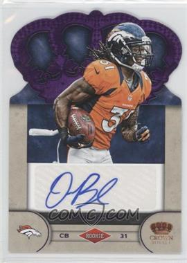2012 Crown Royale - Rookie Signatures - Purple #75 - Omar Bolden /25