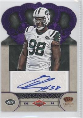 2012 Crown Royale - Rookie Signatures - Purple #77 - Quinton Coples /25
