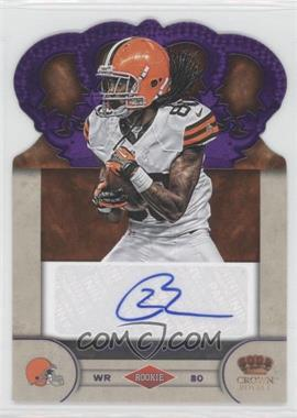 2012 Crown Royale - Rookie Signatures - Purple #99 - Travis Benjamin /25