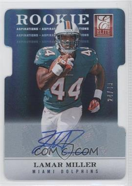 2012 Elite - [Base] - Aspirations Die-Cut Signatures [Autographed] #133 - Lamar Miller /49