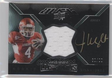 2012 Exquisite Collection - Upper Deck Black Rookie Lustrous Jersey Signatures #BRL-28 - Jarius Wright /99