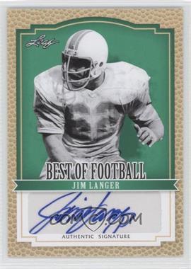 2012 Leaf Best of Football - [Base] #BA-JL2 - Jim Langer