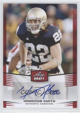 2012 Leaf Draft - Autographs - Red #HS1 - Harrison Smith