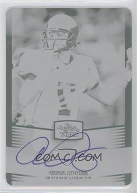 2012 Leaf Metal Draft - [Base] - Printing Plate Black #AC1 - Aaron Cox /1