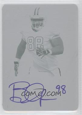 2012 Leaf Metal Draft - [Base] - Printing Plate Cyan #BT1 - Brandon Thompson /1