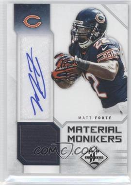 2012 Limited - Material Monikers #38 - Matt Forte /25