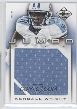 2012 Limited - Rookie Jumbo Materials #9 - Kendall Wright /99
