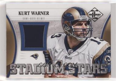 2012 Limited - Stadium Stars Helmets #18 - Kurt Warner /75