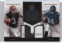 Brandon Weeden, Justin Blackmon /49