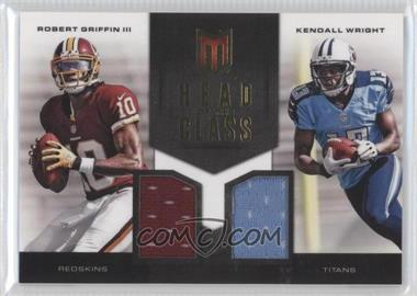 2012 Momentum - Head of the Class Combo Materials #9 - Kendall Wright, Robert Griffin III /149
