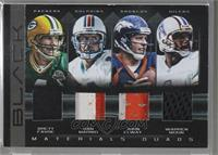 Brett Favre, Dan Marino, John Elway, Warren Moon [Noted] #/7