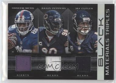 2012 Panini Black - Materials Triples #17 - Hakeem Nicks, Jay Cutler, Julius Peppers, Chicago Bears, New York Giants /50
