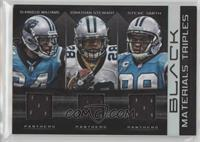 DeAngelo Williams, Jonathan Stewart, Steve Smith #/50