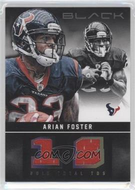 2012 Panini Black - Stat Line Materials #27 - Arian Foster /99