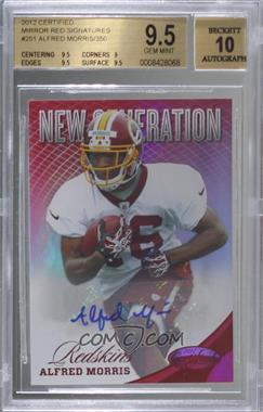 2012 Panini Certified - [Base] - Mirror Red Signatures [Autographed] #251 - Alfred Morris /350 [BGS9.5GEMMINT]