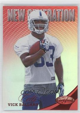 2012 Panini Certified - [Base] - Mirror Red #310 - Vick Ballard /250