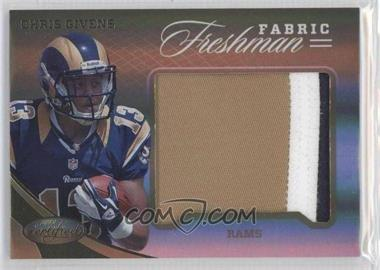 2012 Panini Certified - Materials - Mirror Gold Prime #335 - Chris Givens /25
