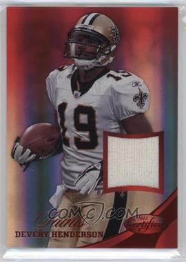 2012 Panini Certified - Materials - Mirror Red #14 - Devery Henderson /199