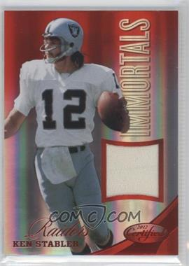 2012 Panini Certified - Materials - Mirror Red #203 - Ken Stabler /199
