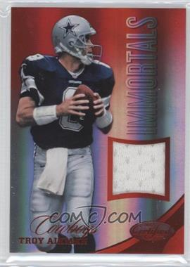 2012 Panini Certified - Materials - Mirror Red #210 - Troy Aikman /199