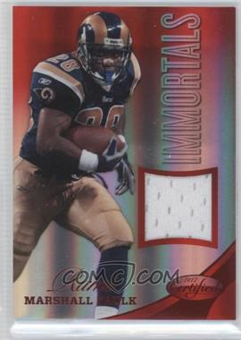 2012 Panini Certified - Materials - Mirror Red #226 - Marshall Faulk /199