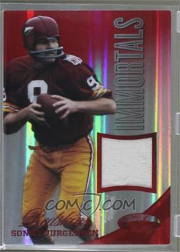 2012 Panini Certified - Materials - Mirror Red #227 - Sonny Jurgensen /75