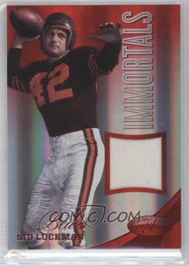 2012 Panini Certified - Materials - Mirror Red #228 - Sid Luckman /50