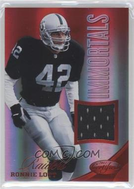 2012 Panini Certified - Materials - Mirror Red #231 - Ronnie Lott /199