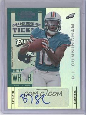 2012 Panini Contenders - [Base] - Championship Ticket #105 - B.J. Cunningham /1
