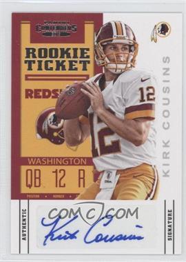 2012 Panini Contenders - [Base] #155 - Rookie Ticket - Kirk Cousins