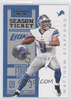 Season Ticket - Matthew Stafford