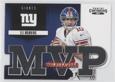 2012 Panini Contenders - MVP Contenders #14 - Eli Manning