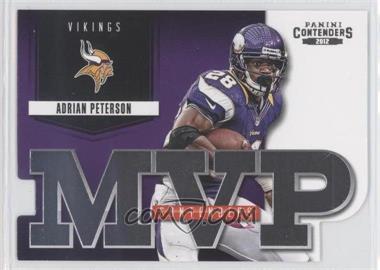 2012 Panini Contenders - MVP Contenders #9 - Adrian Peterson