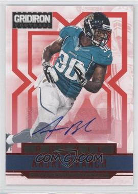 2012 Panini Gridiron - [Base] - Rookie Signatures Xs [Autographed] #203 - Andre Branch /99