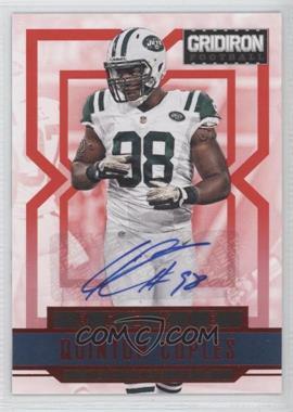 2012 Panini Gridiron - [Base] - Rookie Signatures Xs [Autographed] #277 - Quinton Coples /99