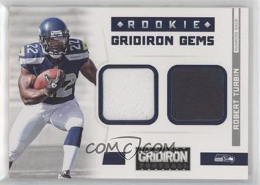 2012 Panini Gridiron - Rookie Gridiron Gems - Combo Materials #305 - Robert Turbin /249