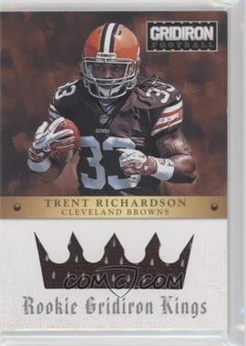 2012 Panini Gridiron - Rookie Gridiron Kings - Materials [Memorabilia] #3 - Trent Richardson /299