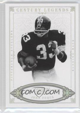 2012 Panini National Treasures - [Base] - Century Silver #155 - John Fuqua /25