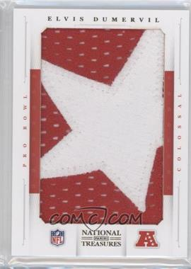 2012 Panini National Treasures - Colossal Pro Bowl - Stars Prime Patch #22 - Elvis Dumervil /4