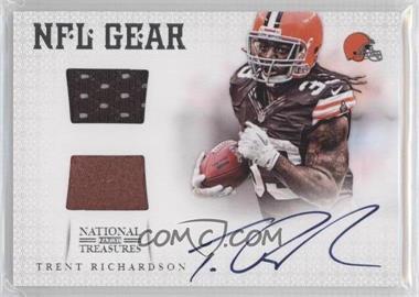2012 Panini National Treasures - NFL Gear - Dual Materials Signature #32 - Trent Richardson /49