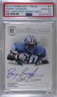 Barry Sanders [PSA 10 GEM MT] #/25