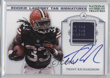 2012 Panini National Treasures - Rookie Laundry Tag Signatures #2 - Trent Richardson /10